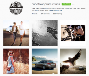 Cape Town productions Instagram Rag and Bone